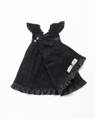 ブラック  ドレス型ジャガードタオル見る