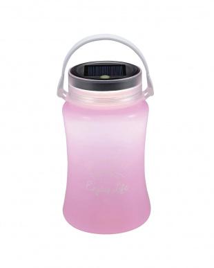 ピンク  フローティングLEDランタン typeII「ソーラー&USB充電式」見る