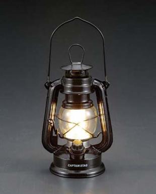 ハンマートンブラック アンティーク暖色LEDランタン見る