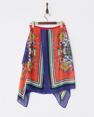 ORANGE スカーフスカート見る
