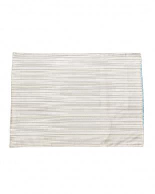 ブルー  サテン ピローケース(65×45cm)見る