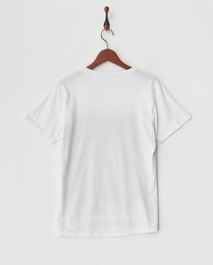 グレー アニマルフェイスプリントTシャツ見る