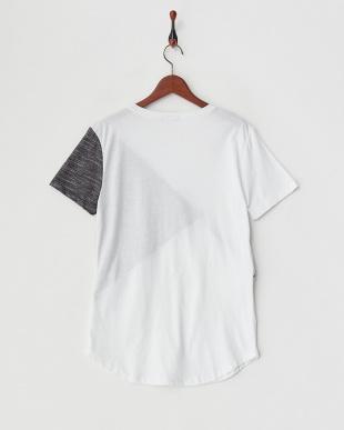 ホワイト  ZIP切り替えTシャツ見る