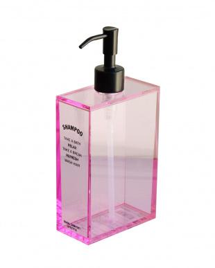 ブラック/ピンク アクリルバイサイド Shampoo&Conditioner&Bodysoap見る