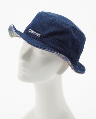 ネイビー  ALOHA FABRIC×DENIM RV HAT見る