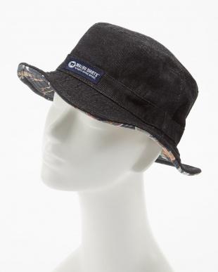ブラック  ALOHA FABRIC×DENIM RV HAT見る