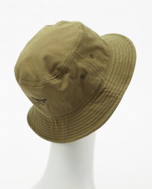 カーキ  SNOOPY FAMILY TWILL BUCKET HAT見る