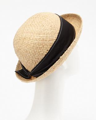 ブラック  RAFFIA BOWLER HAT見る