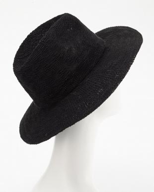 ブラック  SLUB YARN WIDE BRIM HAT見る