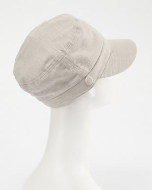 ベージュ BUMPYCOTTON MARINE CAP見る