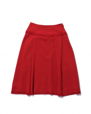 BROWN1 フリンジミモレ丈スカート R/B(オリジナル)見る