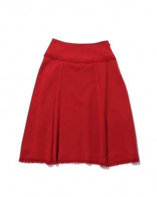 RED1 フリンジミモレ丈スカート R/B(オリジナル)見る