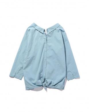 BLUE LT 長袖ブラウス R/B(オリジナル)見る