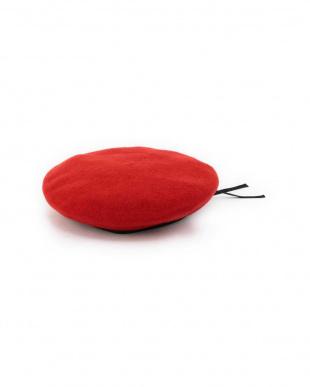 RED1 ウール×フェイクレザーパイピングベレー帽 R/B(バイイング)見る