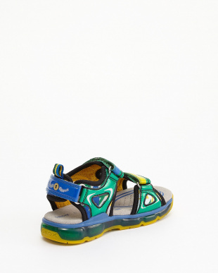 GREEN/MULTICOLOR  SANDALS J S.ANDROID B. A -MESH+PR.DBK見る