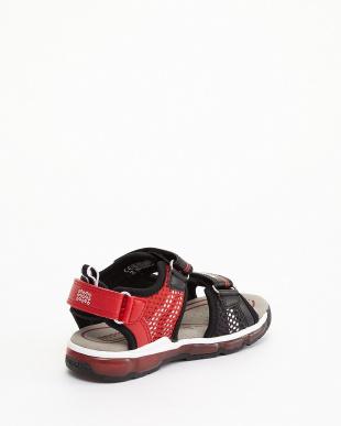 BLACK/RED  SANDALS J S.ANDROID B. A -MESH+PR.DBK見る