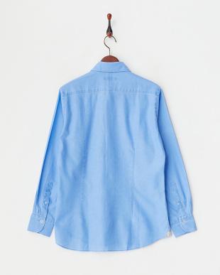 ブルー  からみピグメントシャツ|MEN見る