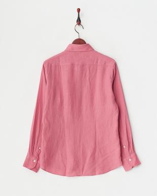 ピンク  リネンアロエフィニッシュシャツ見る