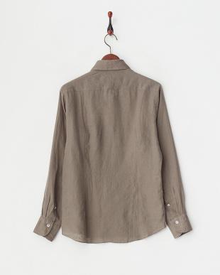 モカブラウン  リネンアロエフィニッシュシャツ見る