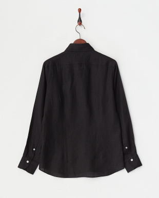 ブラック  リネンアロエフィニッシュシャツ見る