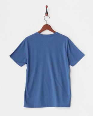 ブルー ブルー シルクリネン混Tシャツ|MEN見る