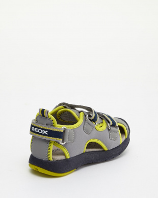 GREY/LIME GREEN  B SAND. MULTY B.B SANDALS見る
