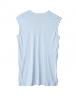 サックス  Vネックスリーブレスシャツ・COOLMAGIC 綿混クール (吸汗速乾×消臭)見る