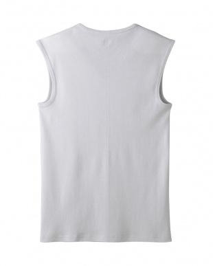 ライトグレー  Vネックスリーブレスシャツ・吸汗速乾/冷感/抗菌防臭見る