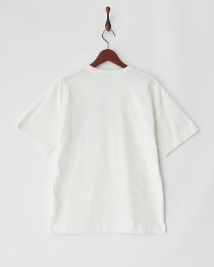ホワイト  『吸水速乾』MOVED COTTON別布ポケットカットソー・ワイドシルエット見る