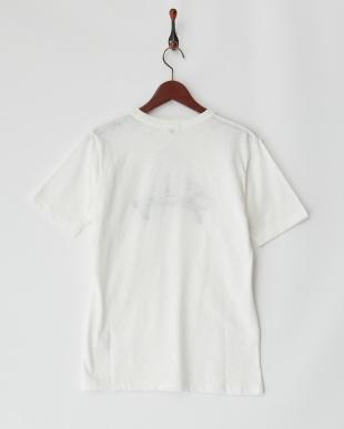 ホワイト  ロゴ刺繍カットソー見る