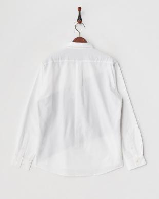 ホワイト グレンチェック切り替えオックスシャツ見る