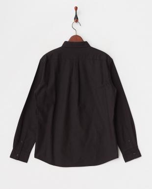 ブラック ランダム切り替えオックシャツ見る