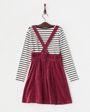 ピンク ベロアジャンパースカートセット(140以上)見る