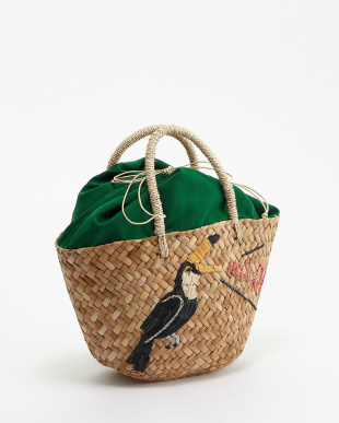 BIRD  EMBROIDERY TOTE見る