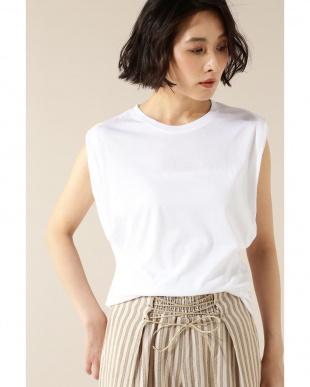 ホワイト duadix ショルダータックTシャツENCHAINEMENT/MIGNON見る