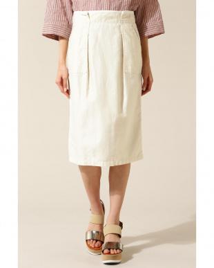 ホワイト1 duadix フロントポケットスカートENCHAINEMENT/MIGNON見る