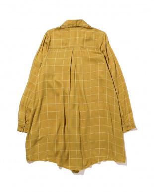 LUDLOW DRESS  KSHO152 チェック柄シャツチュニック R/Bアウトレット専売品見る
