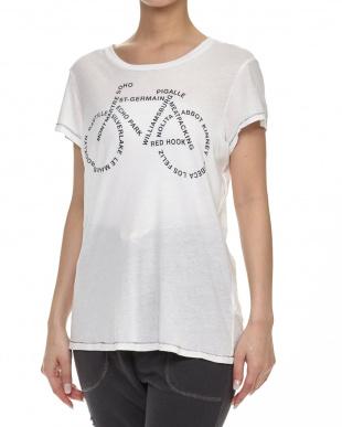 WHITE  モチーフデザインロゴTシャツ見る