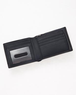 ネイビー  ファスナー小銭入れ 2つ折り財布見る