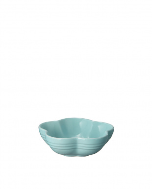 サテンブルー  フラワー・ディッシュ(S)×2枚見る