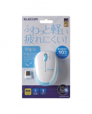ブルー  無線BlueLEDマウス 3ボタン/軽量見る