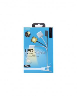 ブラック  LEDクリップデスクライト/USB+AC対応見る