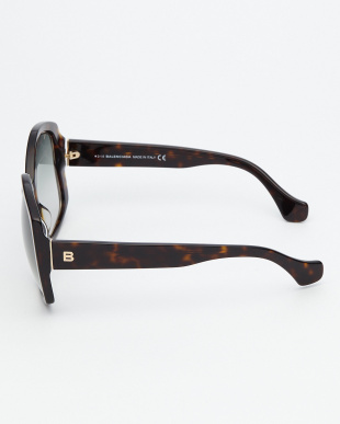 デミブラウン  BA49 変形フレームサングラス見る