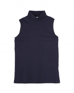 ネイビー Wome's Middle Weight Jersey Sleeveless Turtleeck サンスペル ウイメンズ見る