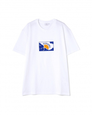 ホワイト Wome's Log-Staple Cotto T-Shirt With Su & Cloud Prit サンスペル ウイメンズ見る