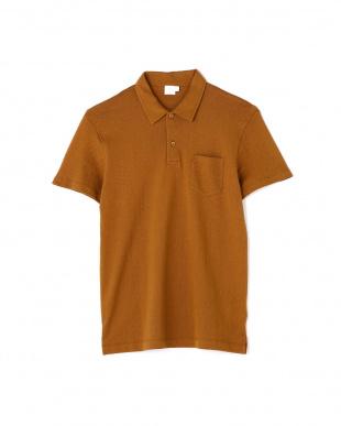 ブラウン Me's Combed Cotto Riviera Polo Shirt サンスペル メンズ見る