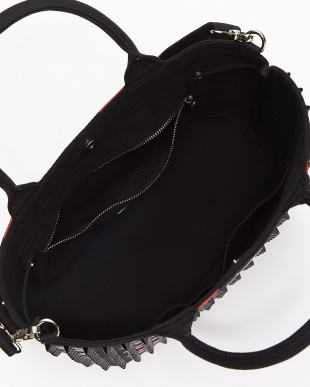 BLACK triangular tote bag large lip/RED|UNISEX見る