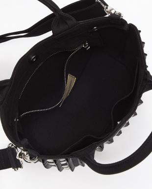 BLACK triangular tote bag small lip/WHITE|UNISEX見る