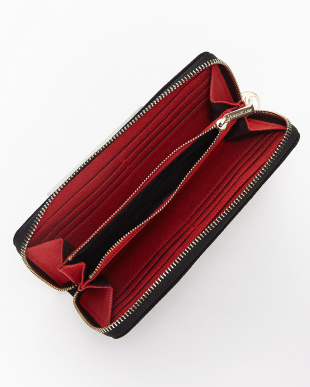 BLACK/RED triangular zip wallet|UNISEX見る
