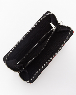 BLACK triangular zip wallet lip/RED|UNISEX見る